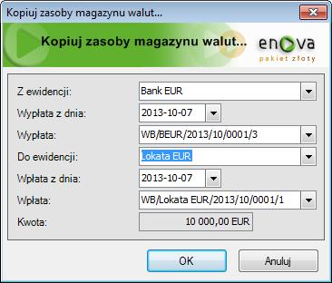 ee87c4e8c1f6d5 Dokumentacja - Ewidencjonowanie wyciągu bankowego w walucie obcej